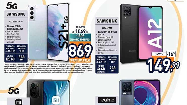 Volantino Unieuro offerta Galaxy S21+