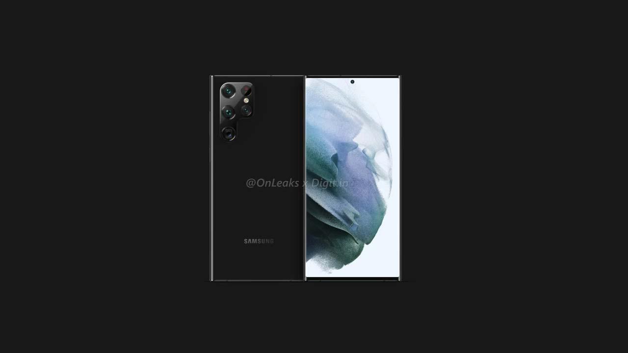 Galaxy S22 Ultra render