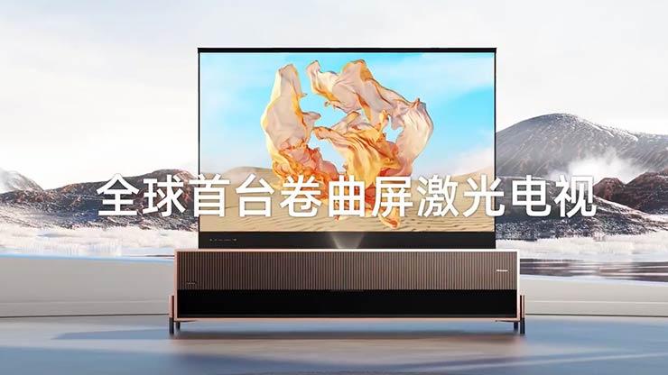 Hisense Laser TV schermo arrotolabile