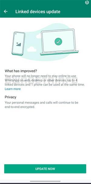 WhatsApp Beta per Android supporto multi-dispositivo