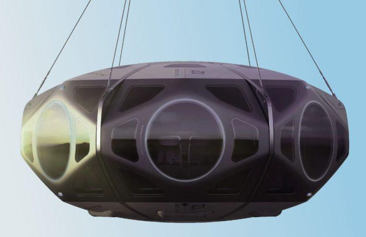 La capsula dello Stratollite può ospitare fino a 8 passeggeri (Worldview.space)