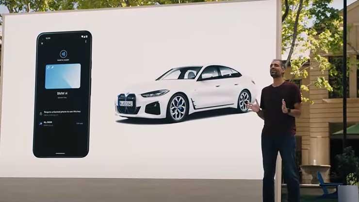 Google Digital Car Key smartphone chiave digitale