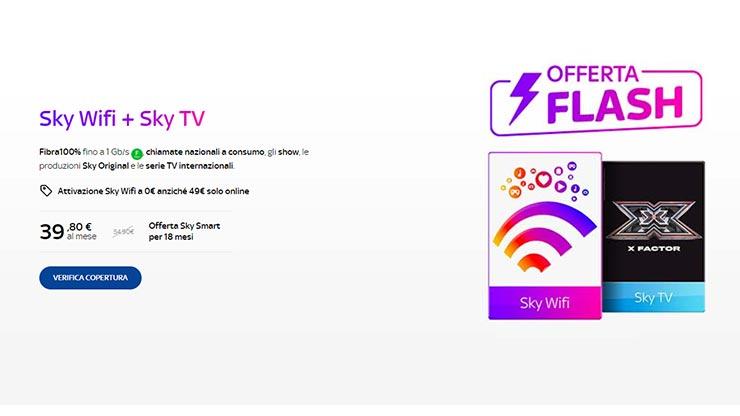 Offerta SKY WiFi+SKY TV